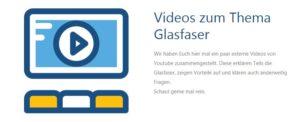 Überarbeitung Videoseite Glasfaser